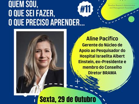 Não perca nosso encontro com Aline Pacífico no Conversa BRAMA #11, dia 29/10 (sexta-feira)