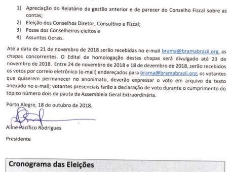 Eleição BRAMA Período 2019/2020