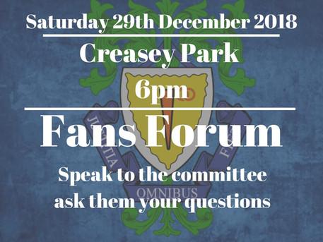 Fans Forum.....