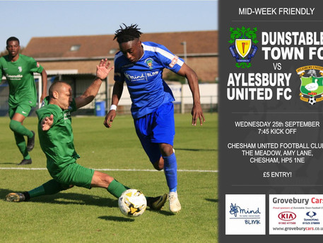 The Blues are on the road in a Mid-week friendly.