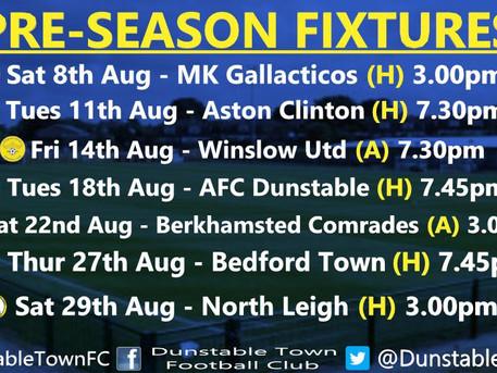 Pre-Season Fixtures.......