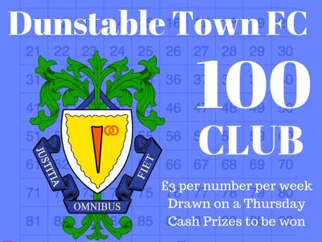 Last weeks 100 Club Result .....