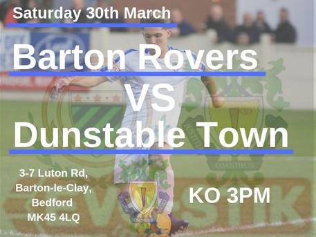 Away to Barton Rovers...