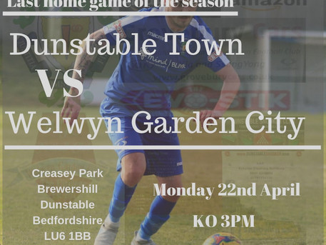 Last home game of the season your club needs your support.