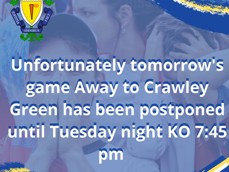 No game saturday, Game Tuesday.