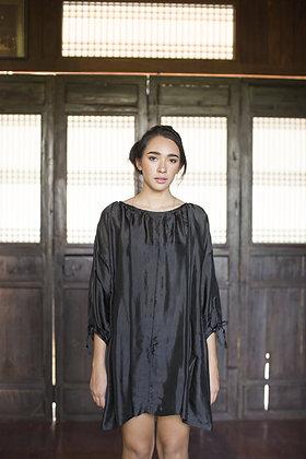 Midnight Peasant Dress