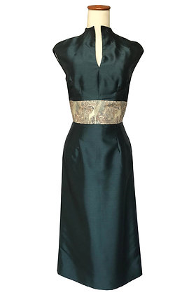 Jade silk Imperial Court dress