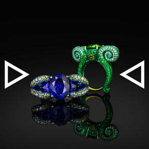 The Blue Fiddlehead Fern Ring | The Green Fiddlehead Fern Ring