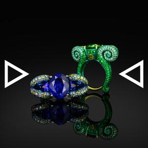 The Blue Fiddlehead Fern Ring | The Green Fiddlehead Fern Ring