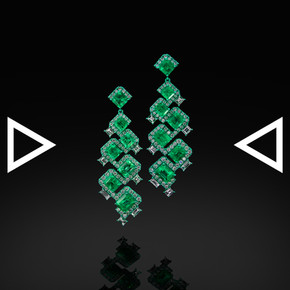 The Diaper Emerald's Brick Earrings