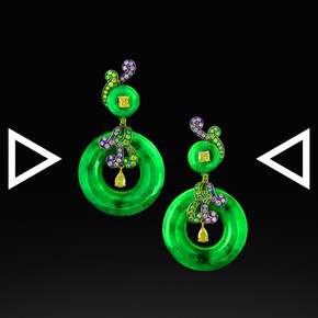 The Jadenite Buoy Earrings