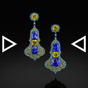 The Iznik Iris Earrings