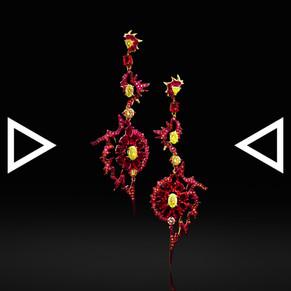 The Chakras Fire Earrings