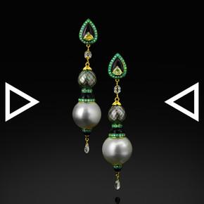 The Grey Dahlia's Briolette Earrings