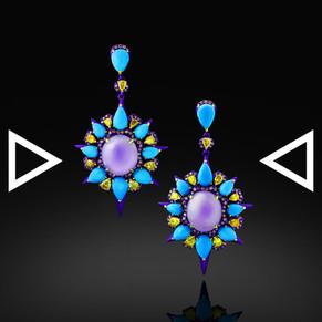 The Purplish Cellarius Earrings