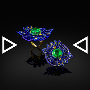 The Indigo Kalacakra Ring