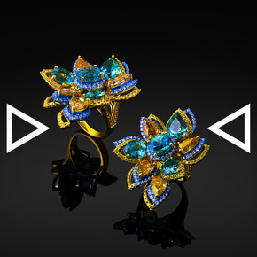 The Twisting Flower Ring