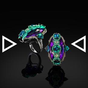 The Purplish Tyrian Mandala Ring