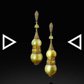 The Golden Gourd Earrings