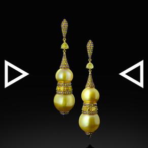 The Golden Gourd Earrings
