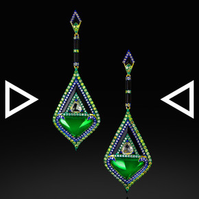 The Deco Geometry Earrings