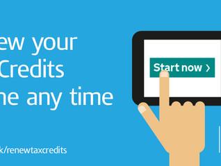 HMRC ramps up tax credit renewal reminders