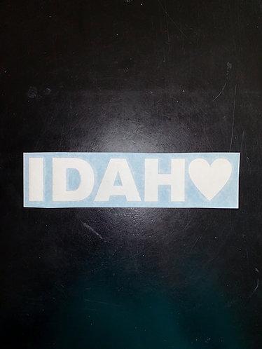 Heart Idaho Decal