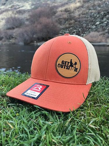 Dark Orange & Khaki Patch Hat