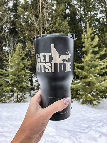 20-oz Male Hiker & Elk Tumblers