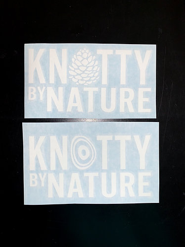Knotty by Nature Decal