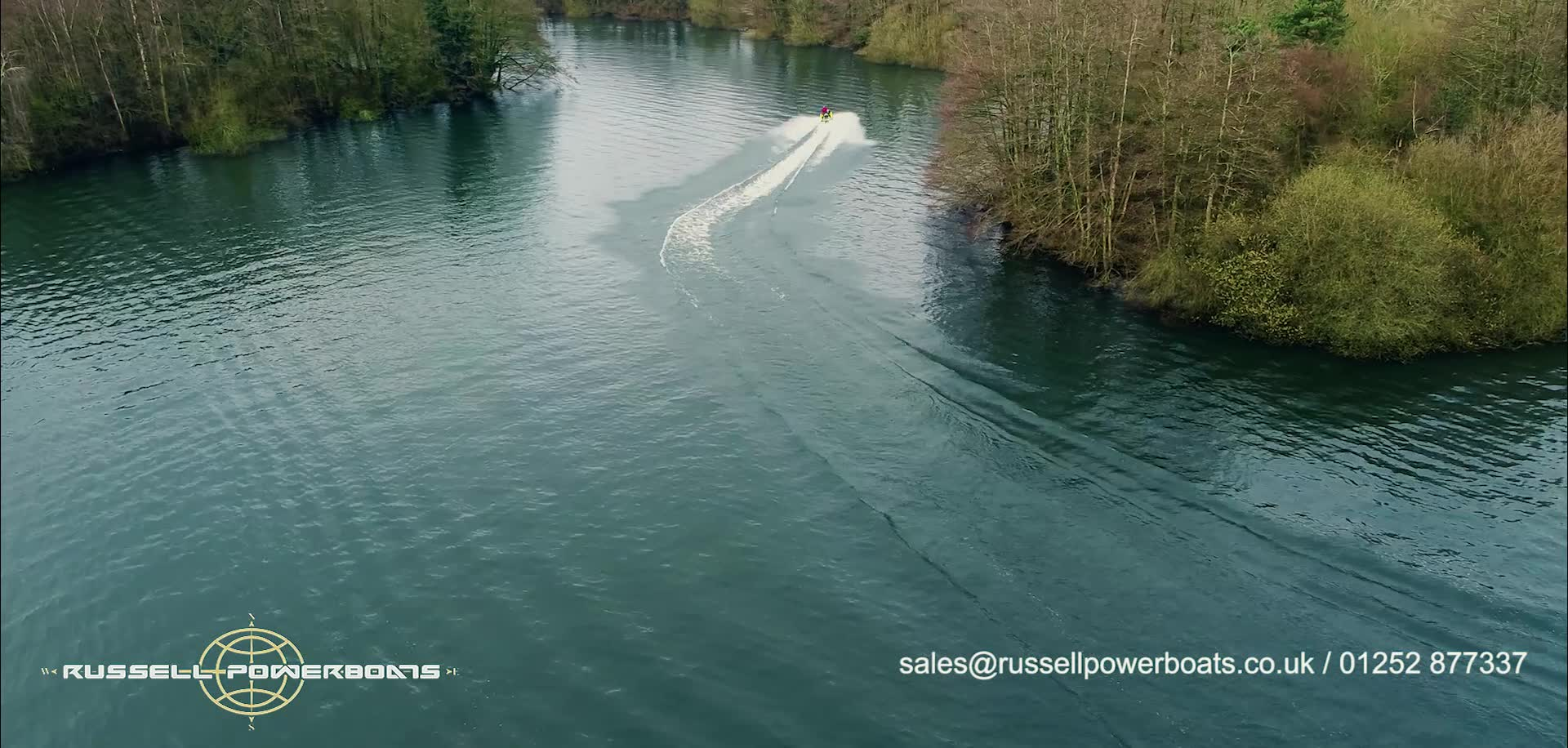 A Flyover of Russell Powerboats.