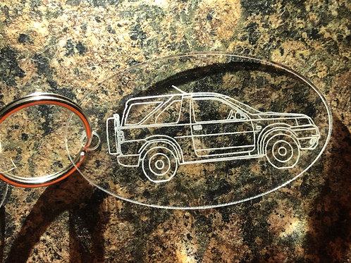Freelander 1 3dr Acrylic KeyRing