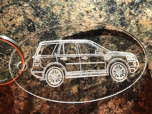 Freelander 2 Acrylic KeyRing