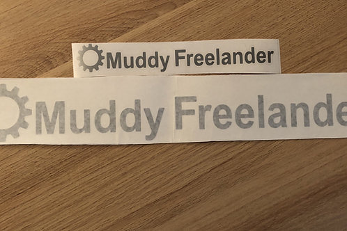 Silver Muddy Freelander Club Sticker