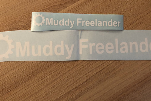 White Muddy Freelander Club Sticker