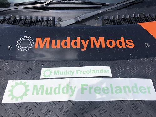 Lime Green Muddy Freelander Club Sticker