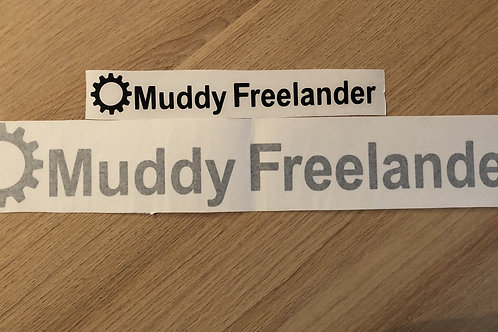 Black Muddy Freelander Club Sticker