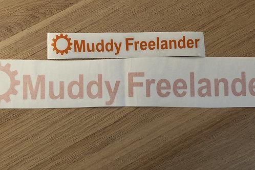 Orange Muddy Freelander Club Sticker