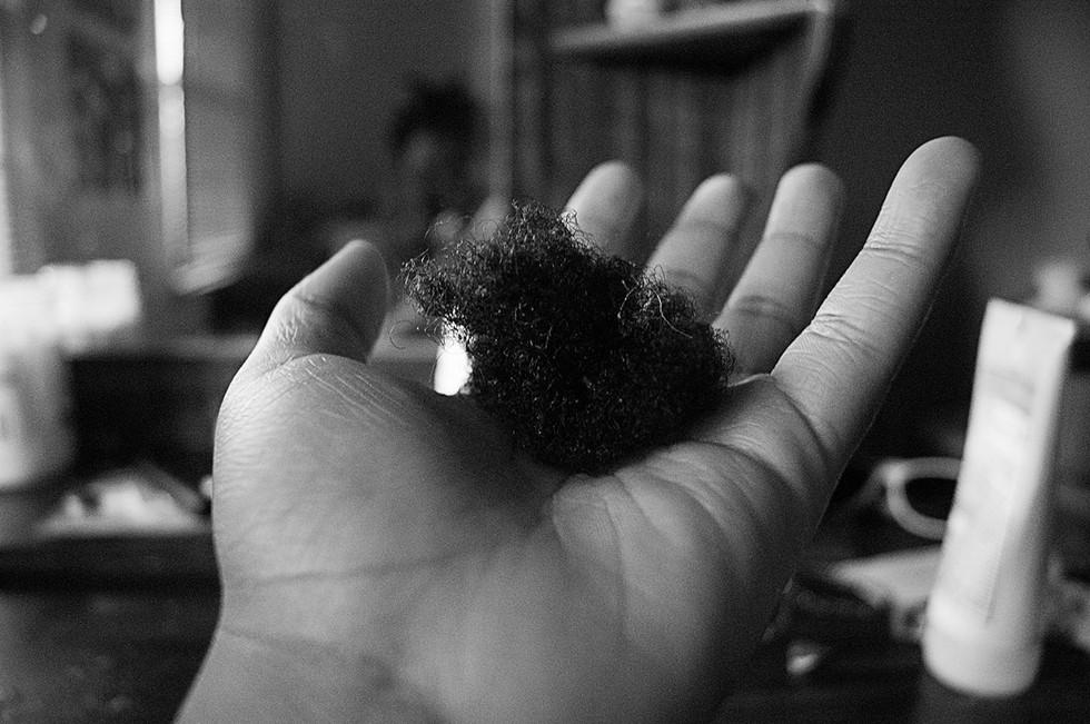 cutting natural hair