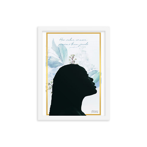 Framed Proverbs 31:10 Woman Poster