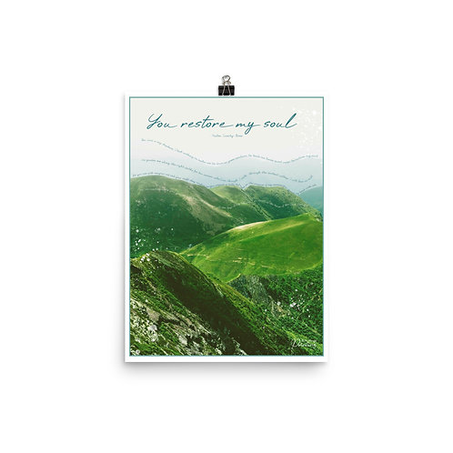 Psalm 23 Poster Green Nature