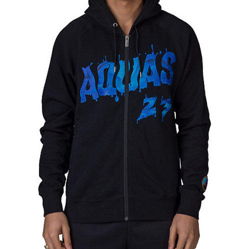 Nike Air Jordan 8 Full Zip Hoodie Con Capucha Viii Aqua Retro