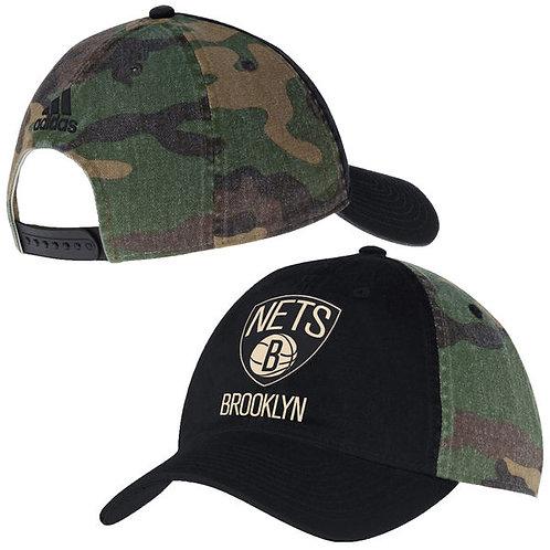 Brooklyn Nets adidas Nación equipo Slouch ajustable Hat - Negro / Camo