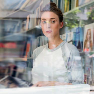 Portrait Through Window Glass