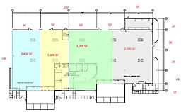 AW Building 11 demised floor plan 4 spac
