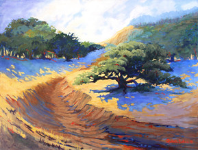 Blue Shadows and Gold Hills