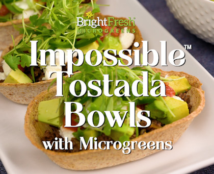 Impossible™  Tostada Bowls with Micro Cilantro