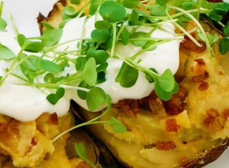 Twice Baked Potatoes Meet Micro Broccoli