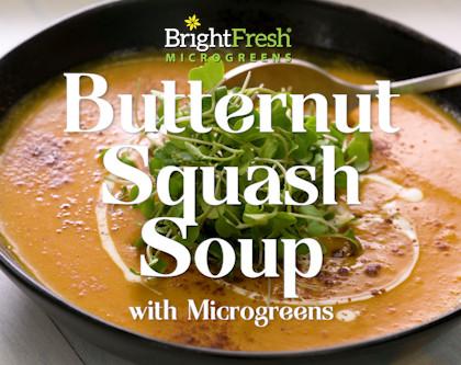 Butternut Squash Soup with Micro Broccoli