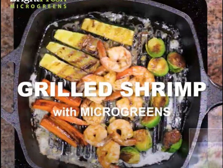 Grilled Shrimp with Microgreens is E-Z!